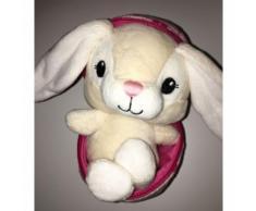 Doudou Lapin Oeuf Rose Coeurs H & M Peluche Bebe Petite Fille Jouet Lapin Blanc Ecru H Et M
