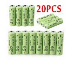 20 piles rechargeables NiCd 700mAh 1.2V solaire de jardin d'éclairage à LED NiCd okadaopa1227