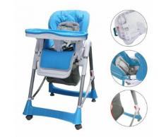 Chaise Pliante Pour Bébé, Chaise Haute Pour Bébé, Bleu, Taille Déployée: 105 X 75 X 60 Cm