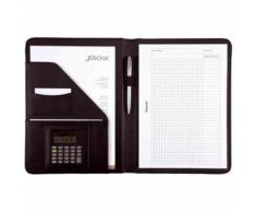 Alassio Réf 96086 Conférencier Avec Bloc-Notes Cuir Synthétique Noir A4 (Import Royaume Uni)