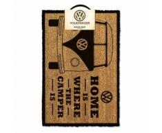 Volkswagen Paillasson Home Is Where The Camper Is 40 X 60 Cm