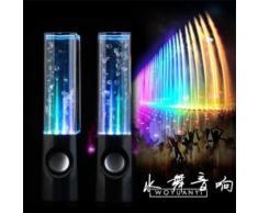 PAIRE D'ENCEINTE A JET D'EAU SPEAKER POUR MOBILE ORDINATEUR PC MP3 ECLAIRAGE LED