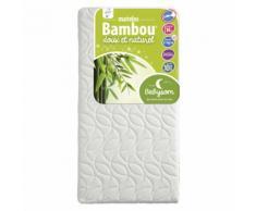 Babysom - Matelas Bébé Bambou 60x120x14cm - Déhoussable
