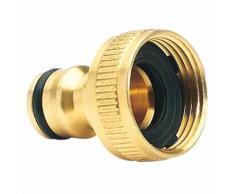 Laiton tuyau d'arrosage robinet connecteur (3/4) Adaptateur Tuyau rapide Accessoires
