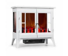 Klarstein Innsbruck Cheminee Electrique Decorative Avec Effet Flammes Realistes Led - Chauffage : 1000w / 2000w - Thermostat - Blanc