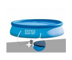 Kit piscine autoportée Easy Set 3,96 x 0,84 m + bâche de protection - Intex