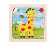 Animal Puzzle En Bois Éducatif Développement Bébé Enfants Formation Jouet