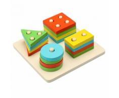 Bébé Enfant Enfants Perfectionnement Jouet Éducatif En Bois Tri Conseil Forme Géométrique Appariement Blocks Kits