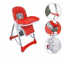 Chaise Pliante Pour Bébé, Chaise Haute Pour Bébé, Rouge, Taille Déployée: 105 X 75 X 60 Cm