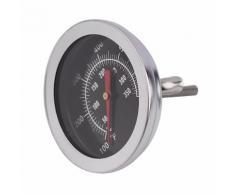 Thermomètre de cuisine en acier inoxydable - Thermomètre pour barbecue