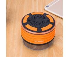 Haut-parleurs portables Bluetooth sans fil avec radio Douche Haut-parleur IPX7 Ventouse @sdongt1553