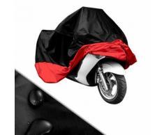 Housse Moto Scooter Noir Rouge Taille Xl Protection Exterieur Impermeable Avec Sac De Rangement