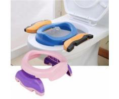 Multi-Fonction Réducteur De Toilettes Siège De Pot Portable Chambre Voiture Voyage Pour Bébé Bambin Entraîneur De Propreté Rose