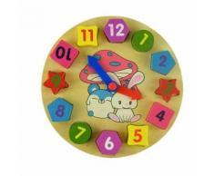 Jouet En Bois Numérique Géométrie Horloge Blocs En Bois Jouets Pour Enfants Jouet Éducatif