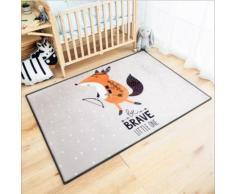Tapis De Jeu Pour Enfant Epais Et Doux Motif Adorable Animal 100*150cm Tapis De Chambre Multi-Fonction Pour Bébé - Motif Fox