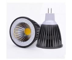 LED 15W MR16 Ampoule LED Dimmable Blanc froid Lampe Lumière Angle de faisceau 120 °Spot LED Epistar COB Projecteur AC12 12V