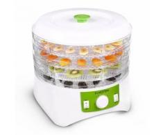 Klarstein Appleberry - Deshydrateur electrique pour fruits, viandes, légumes (400W, 4 étages, sans BPA) - blanc/vert
