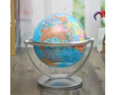 14.2cm Globe Terrestre Rotatif Mappemonde Géographie Éducatif Décor