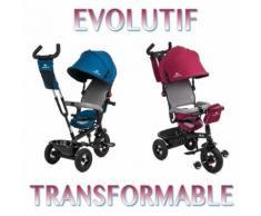 Trike Tricycle Swift 3 Roues 1 - 5 Ans Enfant Bébé Poussette Evolutif Smart Bleu