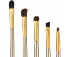 Trixes Ensemble Cosmétique Doré 5 Pinceaux De Maquillage & Boîte De Rangement Pour Fards À Paupières Pour Professionnels