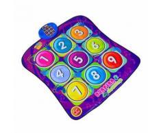 Tapis De Danse Pour Enfant Jeu Électronique Tapis Musical Fitness Tapis De Jeu Jouet Tactile Moderne Modèle Numérique Multicolore 07