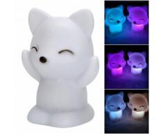 Veilleuse Belle Fox Shape Led Night Light Lampe Décoration 7 Couleurs Changeantes Cadeau D'anniversaire
