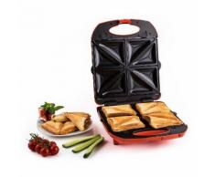 Klarstein Trinity Sandwich Maker - Grill 3-en-1 : gaufrier, croque-monsieur, grll de contact (1300W, surface de cuisson de 20x24cm) - rouge