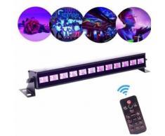 Jeux de Lumière Barre UV -36W UV LED Bar 12LED -Projecteur Lampe DJ Disco LED PAR Lampe Wall Washer