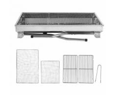 BBQ Barbecue de table pliant au Charbon en Acier inoxydable Portable