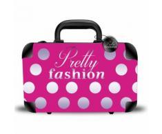 Coffret Cadeau Mallette De Maquillage Format Valise Pretty Fashion - 62pcs