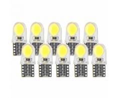 Xcsource 10 Pcs Lampe De Panneau Intérieur Led Auto 12 V T10 W5w Dôme 194 168 Super Lumineux Blanc Lampe De Lecture Coin Ampoule De Coffre Plaque D'Immatriculation Ma1431