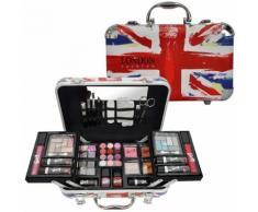 Coffret Cadeau Mallette De Maquillage Format Valise London Fashion - 62pcs