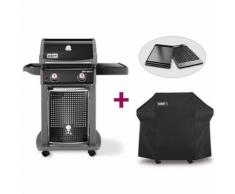 Barbecue Spirit E-210 Classic + Plancha + Housse - Weber