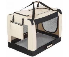 Cage De Transport Pour Chien Mobile Pliable Et Transportable Taille Xxl - 88 Cm X 61 Cm X 70 Cm Tectake + Couverture