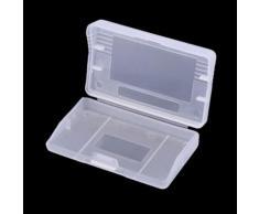 Bonne qualité Cartes de jeu GBA Boîtes à cartouches Matériau plastique Boîtier en plastique transparent Cartridge Cases Protecteur de boîte de rangement