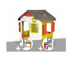 Cabane Enfant Neo Jura Lodge - Smoby + Cuisine D'été + Table Pique-Nique