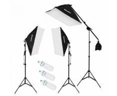 Photo Studio photographie Kit d'éclairage continu à LED Pied de lampe + lampe 135W avec prise européenne