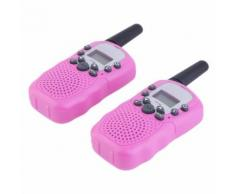 Rt-388 Paire De Talkies Walkies Enfant Pmr446 0.5w Ecran Lcd Lampe Torch Vox (Rose)