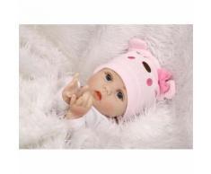 55 Cm Doux Corps Silicone Reborn Bébé Poupée Jouet Pour Filles Nouveau-Né Fille Bébé D'anniversaire
