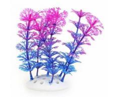 Plante Artificielle Aquatique En Plastique Violet-Bleu Décoration Aquarium