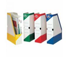 Fast Porte-Revue Carton 330 X 250 X 80 Mm Blanc / Vert Pqt De 25