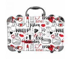 Coffret Cadeau Coffret Maquillage Mallette De Maquillage Valise Love - 62pcs