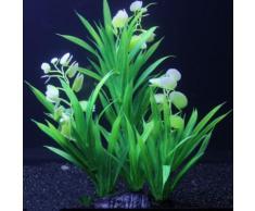 Buyiesky®Herbe Eau Verte Ornement Plante Pour Aquarium Artificielle Aquarium En Plastique