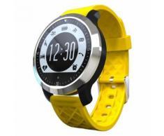 F69 Sport Smart Suivre Ip68 Fitness Tracker Bracelet De Fréquence Cardiaque Moniteur Sommeil Piscine Intelligente Wristband Pour Ios Android(Jaune)