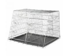 Cage De Transport Chien Mobile Double Zinc