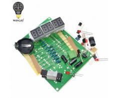Kits de bricolage AT89C2051 horloge électronique tube numérique LED affichage Suite Module électronique Pièces et composants DC 9V - 12V