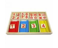 Bébé Jouet Bois Blocks Montessori Jouets Éducatifs Mathematical Intelligence Stick Building Blocks Cadeau