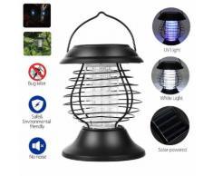 Solaire UV LED Insecte Lutte Zapper Lampe Lumière Anti Moustique Tueur lanterne