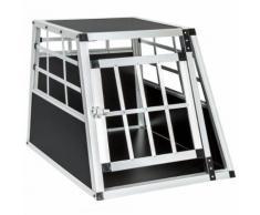 Cage, Caisse, Box De Transport Pour Chien En Aluminium 54 Cm X 69 Cm X 50 Cm Tectake