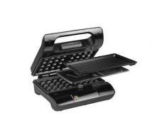 Nova Compact Pro - Grille-sandwich / gaufrier / grill - 700 Watt - satin noir/acier inoxydable